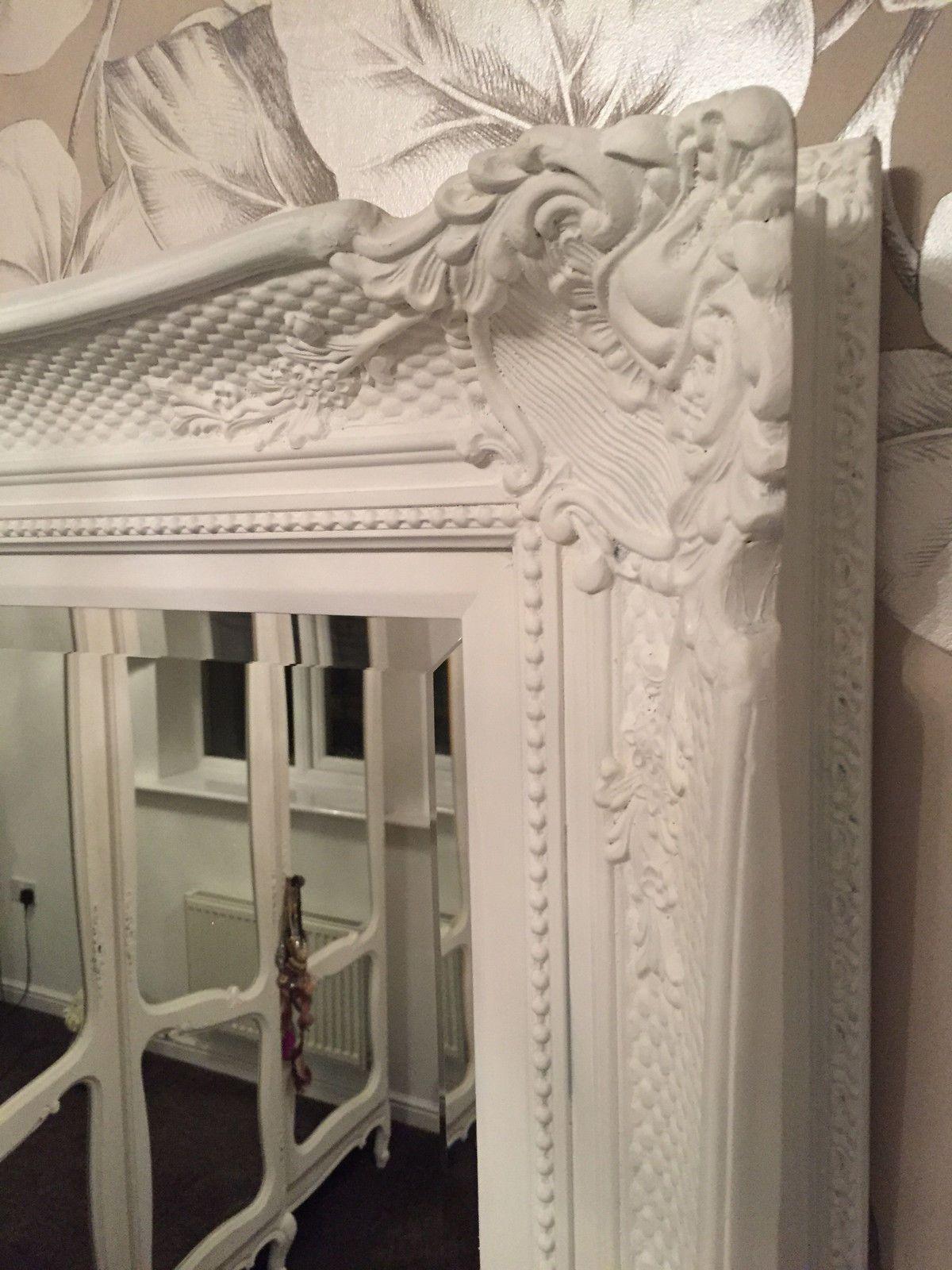 Fabulous Ornate White Antique Ornate Mirror Other Frame